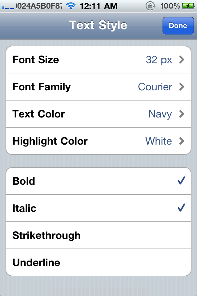Rich Text For Mail · Cydia