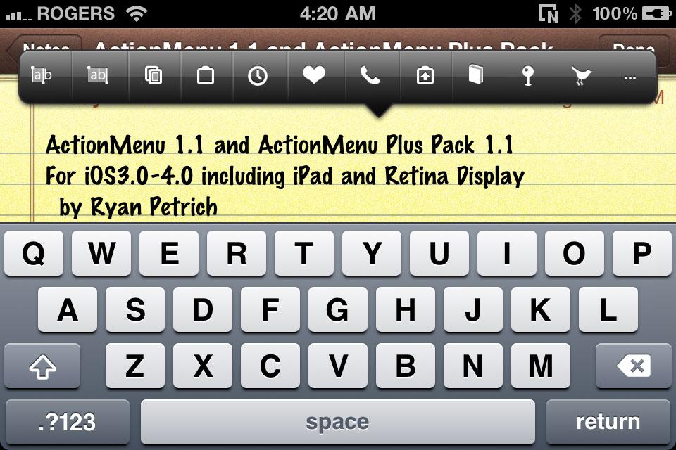 ActionMenu 1.1